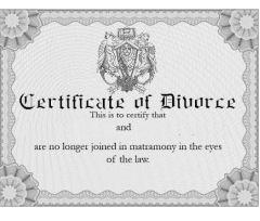 Divorce-certificates